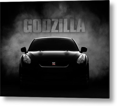 Gtr Metal Print featuring the digital art Godzilla by Douglas Pittman