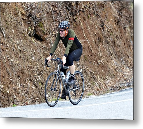Sport Metal Print featuring the photograph Grand Fondo Rider by Susan Leggett