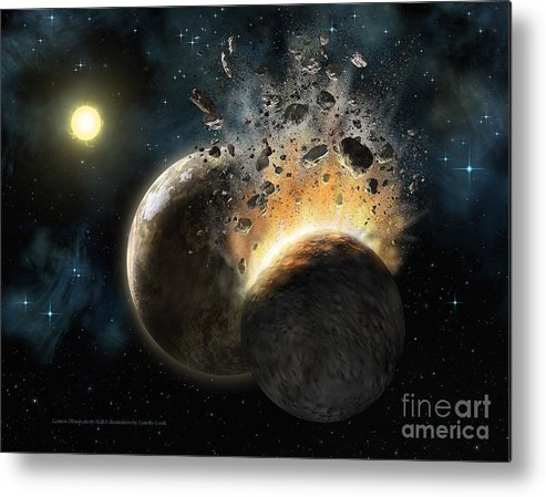 Lynette Cook Metal Print featuring the painting Hd 23514 by Lynette Cook