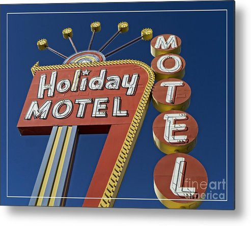 Vegas Metal Print featuring the photograph Holiday Motel Las Vegas by Edward Fielding