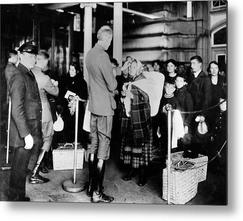Small Group Of People Metal Print featuring the photograph Immigration Health Checks by National Institutes Of Health