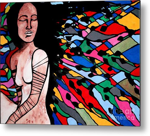 Indian Metal Print featuring the painting Indian Wave by Amy Sorrell