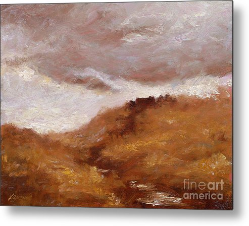 Landscape Paintings Metal Print featuring the painting Irish Landscape I by John Silver