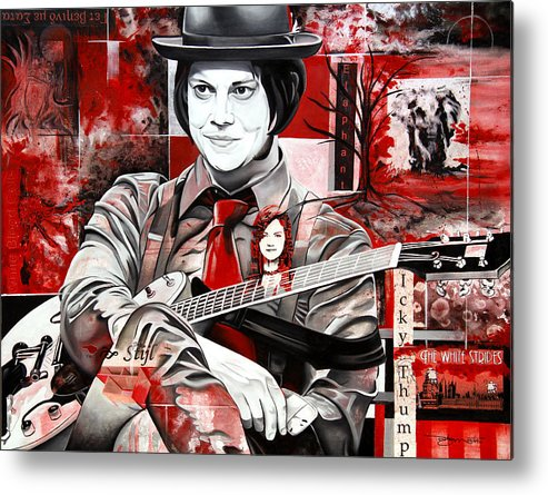 Jack White Metal Print featuring the painting Jack White by Joshua Morton