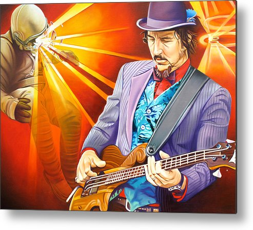 Les Claypool Metal Print featuring the painting Les Claypool's-sonic Boom by Joshua Morton
