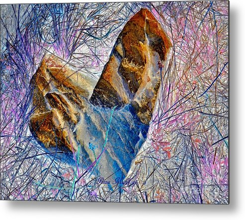 Metal Print featuring the photograph Love Stone by Reza Mahlouji