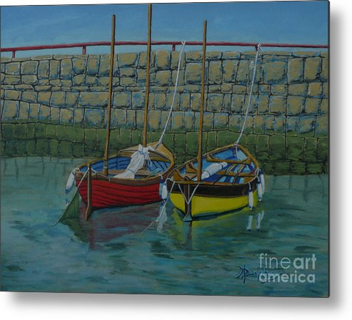 Rock Metal Print featuring the painting Low Tide by Anthony Dunphy