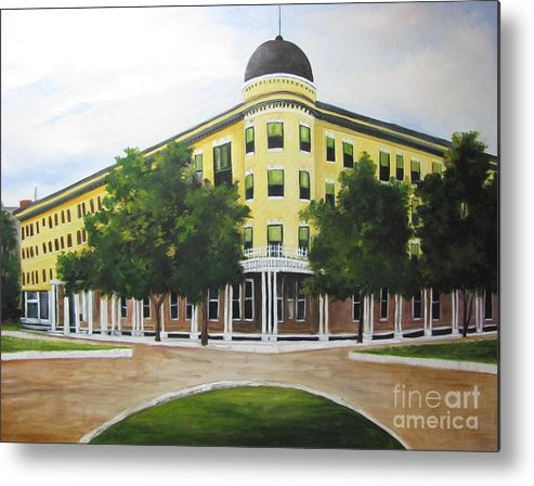 Majestic Hotel Metal Print featuring the painting Majestic Hotel by Barbara Haviland