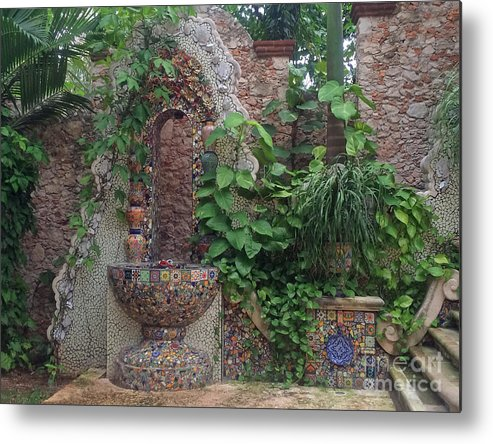 Photograph Metal Print featuring the photograph Mexican Terrace by Cindy Lee Longhini