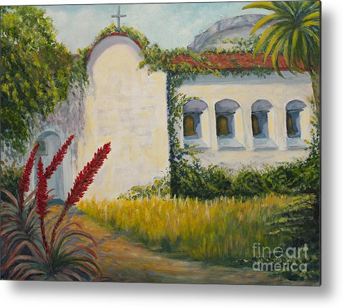 California Misisons Metal Print featuring the painting Mission Bells by Jeanne Wrede