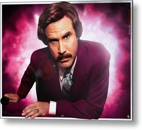 Mr. Ron Burgundy Metal Print featuring the photograph Mr. Ron Mr. Ron Burgundy From Anchorman by Nicholas Grunas