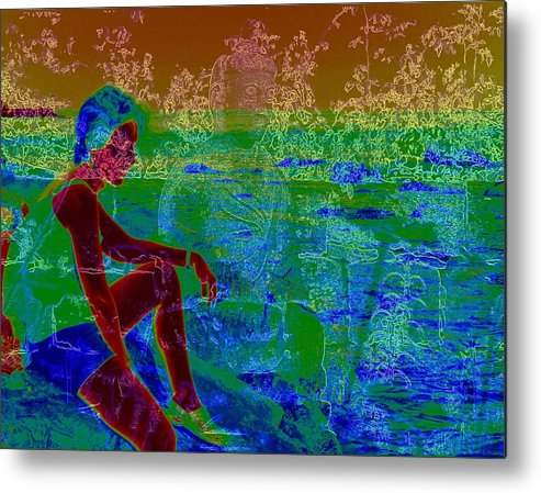 Figure Metal Print featuring the photograph Never Alone by Zeitlin Giffen