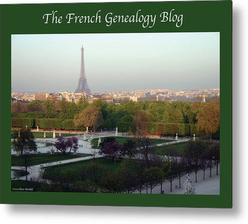 France Metal Print featuring the photograph Paris In The Fall With Fgb Border by A Morddel