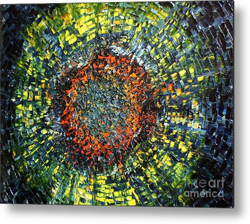 Supernova Metal Print featuring the painting Physiological Supernova by Michael Kulick