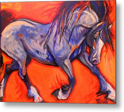 Horse Metal Print featuring the painting Pride by Jenn Cunningham