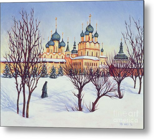 Russian Winter Metal Print featuring the painting Russian Winter by Tilly Willis