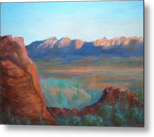 Landscape Metal Print featuring the painting Sand Hollow Panorama by Bryan Alexander