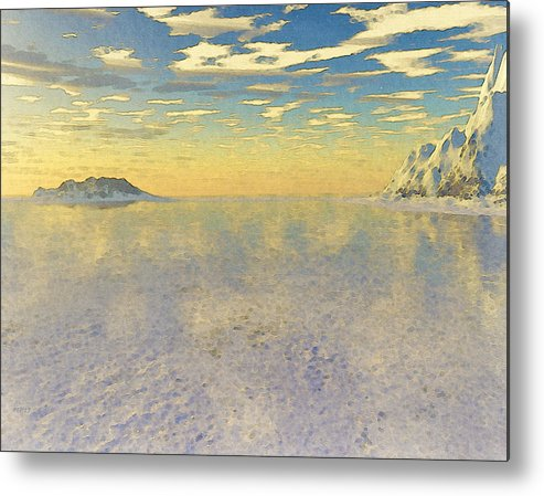 Sunrise Metal Print featuring the digital art Sunrise Over Glacial Bay by Phil Perkins
