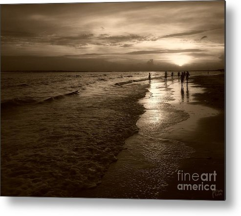 Sepia Metal Print featuring the photograph Sunset In Sepia by Jeff Breiman