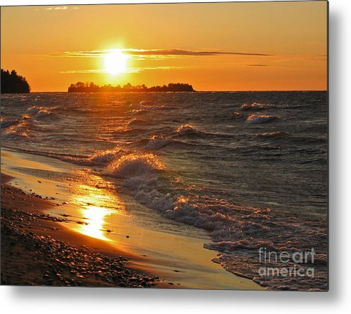Sunset Metal Print featuring the photograph Superior Sunset by Ann Horn