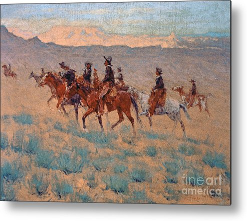Remington Metal Print featuring the painting The Cowpunchers by Frederic Remington