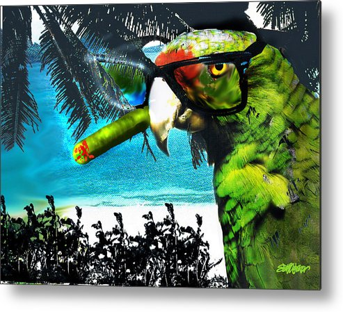 The Great Bird Of Casablanca Metal Print featuring the digital art The Great Bird Of Casablanca by Seth Weaver