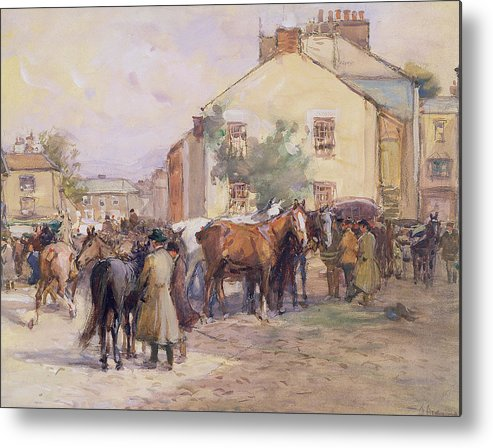 Horse Metal Print featuring the painting The Horse Fair by John Atkinson