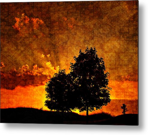 Sunset Metal Print featuring the photograph The Promise Overlay Version by Steve Harrington