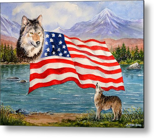 Andrew Read Metal Print featuring the painting The Wildlife Freedom Collection 1 by Andrew Read