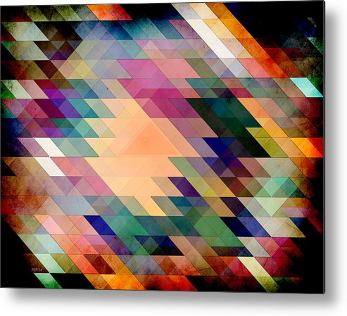 Geometric Metal Print featuring the digital art Triangles And Parallelograms by Phil Perkins
