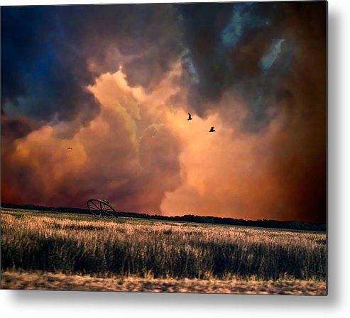 Surreal Metal Print featuring the photograph Wheelmaker by Heath Yonaites