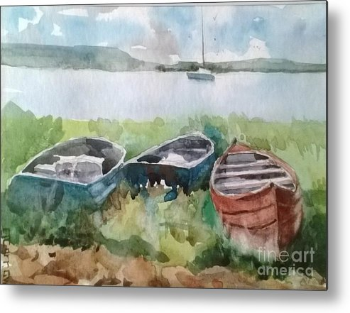 Landscape Metal Print featuring the painting Wishing And Hoping by Elizabeth Carr