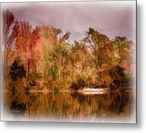 Woods Metal Print featuring the painting Woodland Reflections by Barry Jones