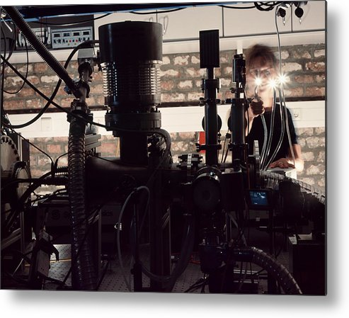 Physics Metal Print featuring the photograph Quantum Entanglement Equipment by Volker Steger