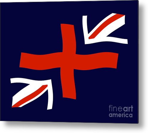 Union Jask Flag Metal Print featuring the digital art Jax by John Albury