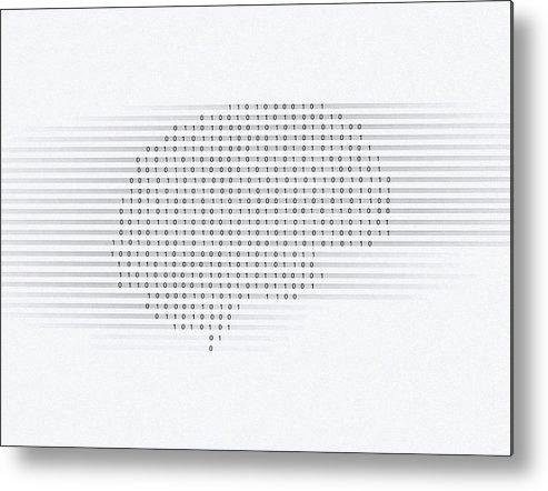 Brain Metal Print featuring the photograph Brain, Conceptual Computer Artwork by Mehau Kulyk