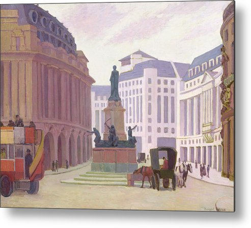 Aldwych Metal Print featuring the painting Aldwych by Robert Polhill Bevan