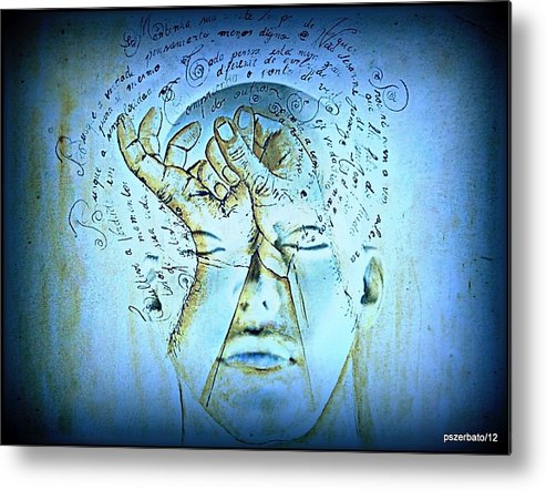 Reading Metal Print featuring the digital art Comprehension by Paulo Zerbato