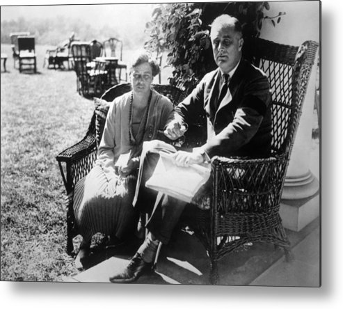 First Lady Metal Print featuring the photograph First Lady Eleanor Roosevelt, President by Everett