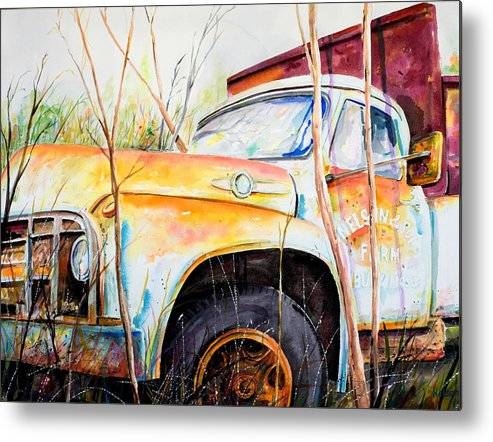 Truck Metal Print featuring the painting Forgotten Truck by Scott Nelson