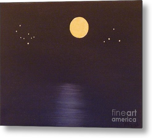 Stars Metal Print featuring the painting Gemini And Libra by Alys Caviness-Gober