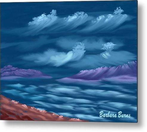 Seascape Metal Print featuring the digital art Ghost Sisters Cove by Barbara Burns