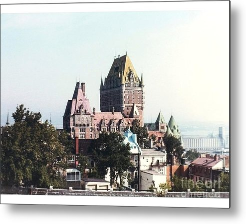 Chateau Photograph Metal Print featuring the photograph Hotel Frontenac Quebec Canada by Cedric Hampton