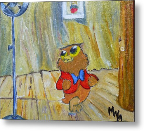I Love To Sings.. Metal Print featuring the painting I Love To Singa... by Mark Malone