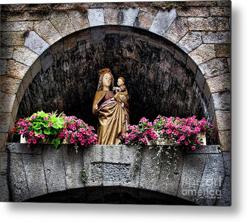 Madonna Metal Print featuring the photograph Madonna And Child Arch by Joan Minchak