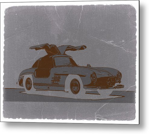 Metal Print featuring the photograph Mercedes Benz 300 by Naxart Studio
