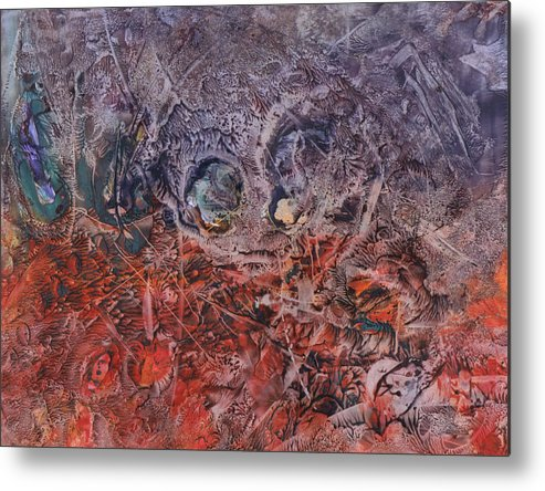 Abstract Metal Print featuring the painting Opposing Forces by Ramona Hartley
