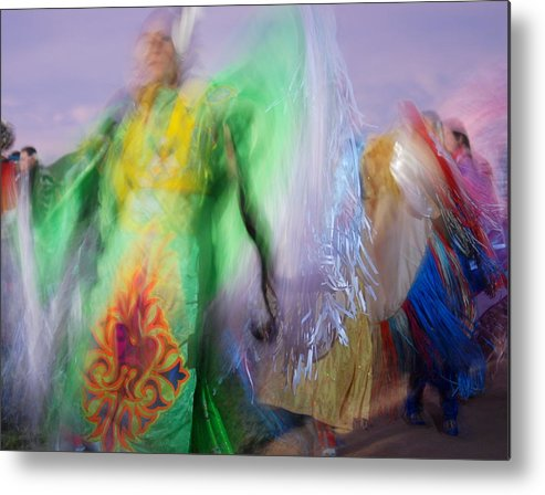 Colorful Metal Print featuring the digital art Spirit Dancer by Vicki Coover