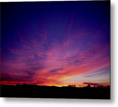 Sunrises Metal Print featuring the photograph Surreal Sunrise by Robert Hooper