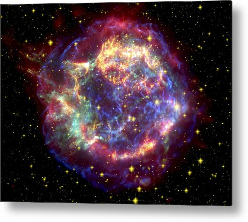 Stars Metal Print featuring the photograph The Many Sides Of The Supernova Remnant by Nasa